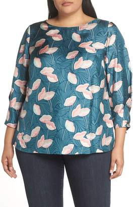 Lafayette 148 New York Lafayette 148 Caddie Floral Print Silk Blouse