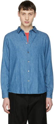 A.P.C. Indigo Washed Denim Classic Shirt