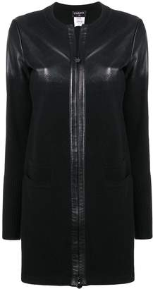 Chanel Pre-Owned leather knitted coat