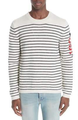 Gucci Kingsnake Striped Wool Sweater