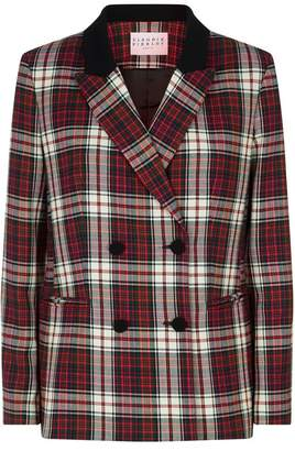 Claudie Pierlot Double-Breasted Check Blazer