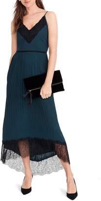 J.Crew Collection Spaghetti Strap Pleated Midi Dress