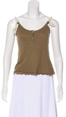 Burberry Sleeveless Ruffled Top