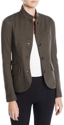 Rag & Bone Slade Three-Button Wool Blazer