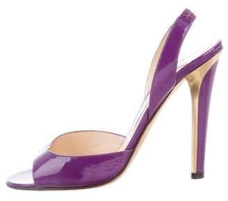 Jimmy Choo Slingback Patent Leather Sandals