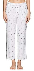 Sleepy Jones Women's Marina Ski-Motif Cotton Pajama Pants - Ski Print White
