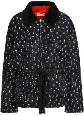 Sonia Rykiel Floral-Print Shell Down Jacket