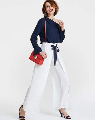 Fashion World Eyelet Wrap Front Trousers