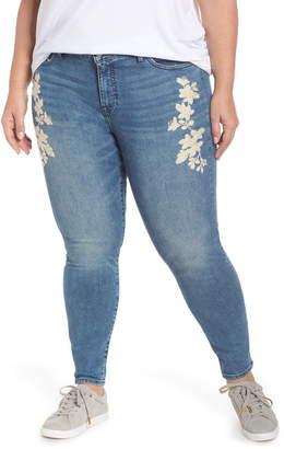 Lucky Brand Lolita Embroidered Skinny Jeans