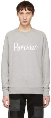 MAISON KITSUNÉ Grey Parisien Sweatshirt