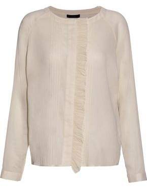 Belstaff Ruffle-Trimmed Cotton-Gauze Blouse