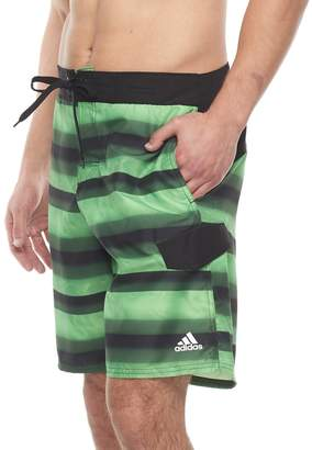 adidas Men's Tech Striped Microfiber E-Board Shorts