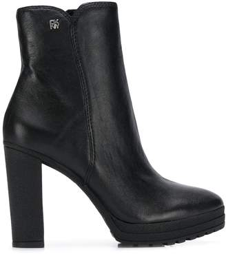 DKNY ankle leather booties