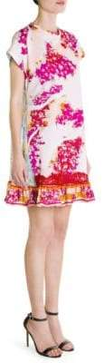Emilio Pucci Mixed Media Print Mini Dress