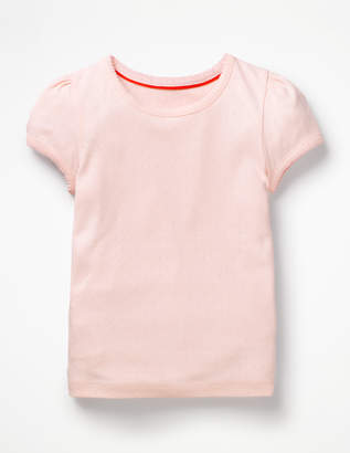 Short-Sleeved Pointelle Top