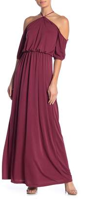 Couture Go Solid Off-the-Shoulder Maxi Dress