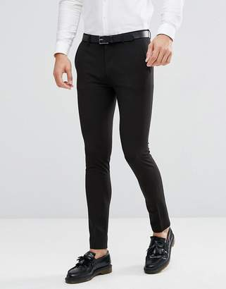 Asos DESIGN super skinny fit suit pants in black