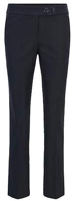 HUGO BOSS Regular-fit cropped trousers in a stretch-cotton blend