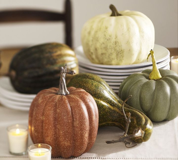Decorative Pumpkins & Gourds, Set of 5