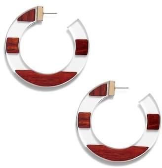 Kate Spade Slice Of Stone 60mm Hoop Earrings
