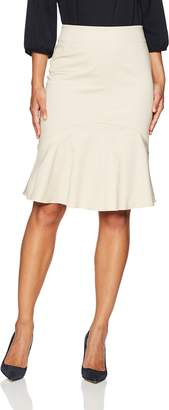 Ellen Tracy Women's Flounce Hem Skirt