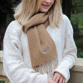 Marquis & Dawe Personalised Camel Merino Wool Scarf