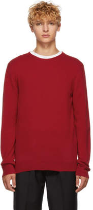 A.P.C. Red Cashmere and Wool Felix Sweater
