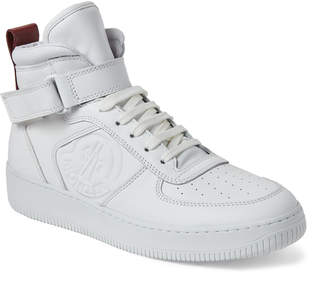 Moncler White Corentin High-Top Leather Sneakers