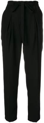 Blugirl tie waist cropped trousers