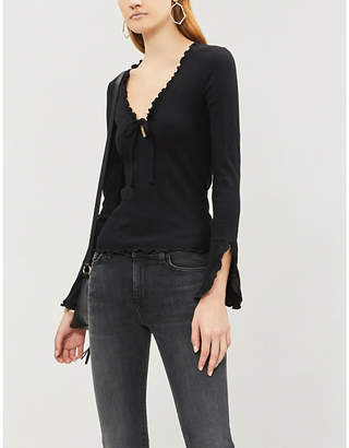 Free People Fall for You stretch-jersey top