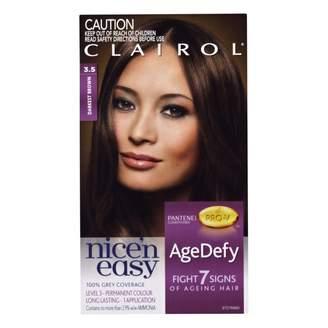 Clairol Nice'n Easy Age Defy Permanent Hair 3. 5 Colour Darkest Brow 1 pack