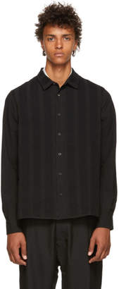 Ziggy Chen Black Vertical Stripe Shirt