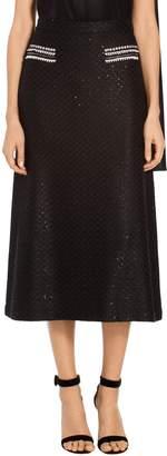 St. John Alla Knit Soft Flared Skirt