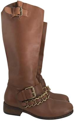 Just Cavalli Leather riding boots