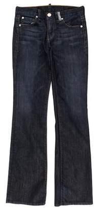 Armani Exchange Low-Rise Straight-Leg Jeans