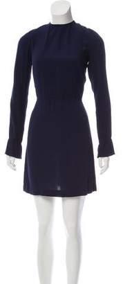 Reformation Long Sleeve Open Back Dress