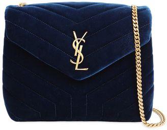 Saint Laurent Small Loulou Velvet Monogram Bag
