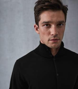 Reiss Lupton Merino Wool Button Through Top