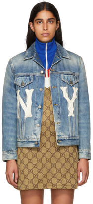 Gucci Blue New York Yankees Edition Denim Jacket