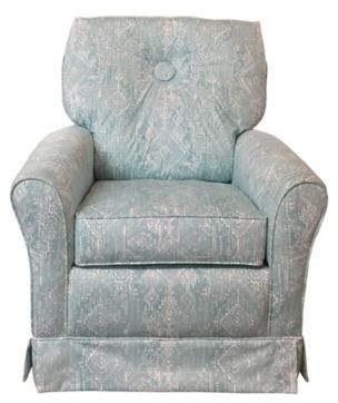 The 1st Chair Tate Glider in Tiffany Teal