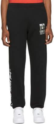 Off-White Off White Black Monalisa Slim Lounge Pants