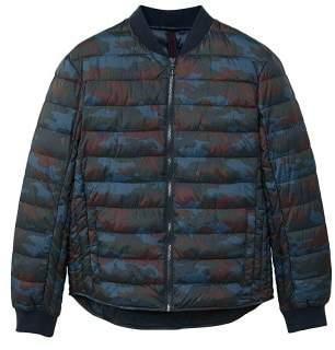 Mango man MANGO MAN Camouflage quilted bomber jacket