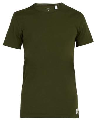 Paul Smith Crew Neck Cotton Pyjama Top - Mens - Green