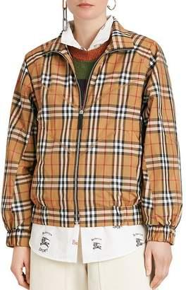 Burberry Corfe Vintage Check Print Jacket