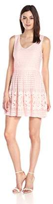 Everly Women's Textured Woven V-Neck Fit-and-Flare Dress $53 thestylecure.com