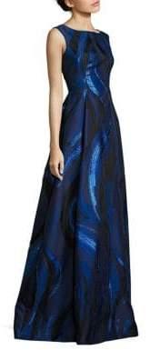 Alberta Ferretti Sleeveless Printed Gown