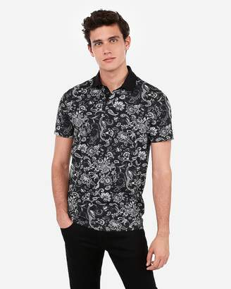 Express Paisley Print Moisture-Wicking Performance Stretch Polo