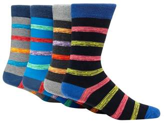 Red Herring Pack Of Four Multi-Coloured Striped Socks