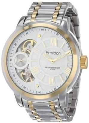 Armitron Men's 20/4930WTTT Exposed Skeleton Dial Stainless Steel Two-Tone Bracelet Watch