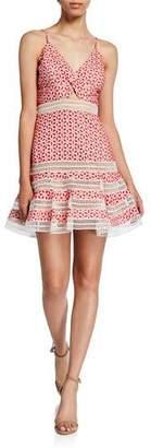 Bardot Camille Embroidered Eyelet Short Dress